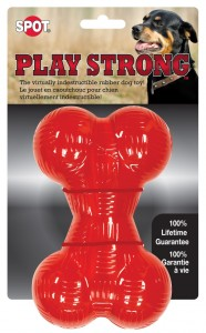 "PLAY STRONG Rubber Bone 6,5"" - Kość gumowa duża"